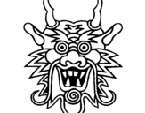Dibuix de Cara de drac  per pintar