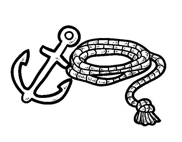 Dibuix de Corda i àncora per Pintar on-line