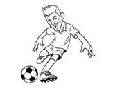 Dibujo de Davanter de futbol
