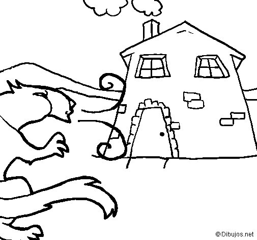 Dibuix de Els tres porquets 11 per Pintar on-line
