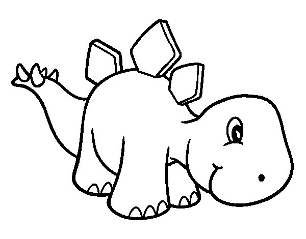 Dibuix de Estegosaurio nadó per Pintar on-line