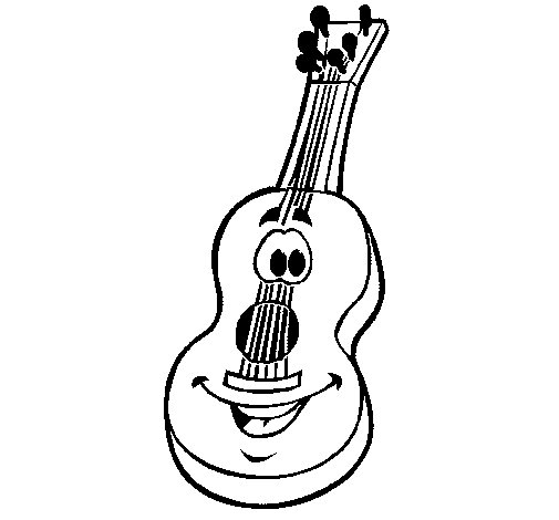 Dibuix de Guitarra espanyola per Pintar on-line