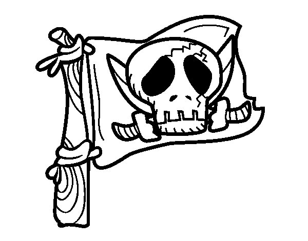 Dibuix de Jolly Roger per Pintar on-line