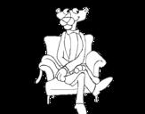 Dibuix de La Pantera Rosa per pintar