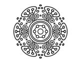 Dibuix de Mandala món llunyà per pintar
