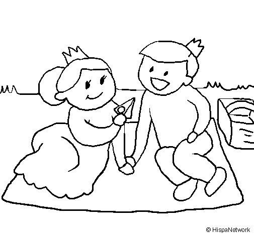 Dibuix de Prínceps de picnic per Pintar on-line