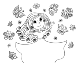 Dibujo de Princesa de les papallones
