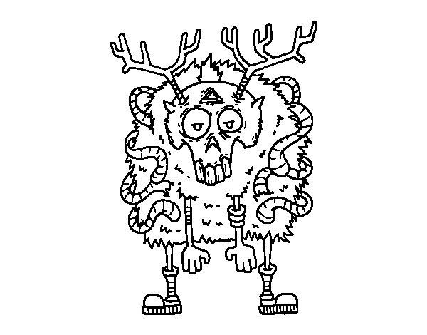 Dibuix de Reno zombie per Pintar on-line