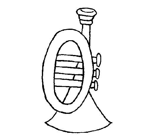 Dibuix de Trompeta per Pintar on-line
