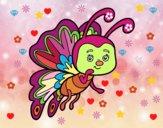 Dibuix Papallona coqueta pintat per MARIETA