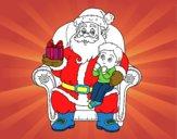 Pare Noel i nen per Nadal