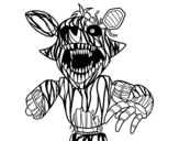 Dibuix de Foxy terrorífic de Five Nights at Freddy's per pintar