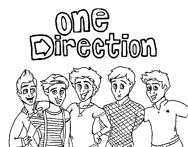 Dibuix de One Direction 3 per Pintar on-line